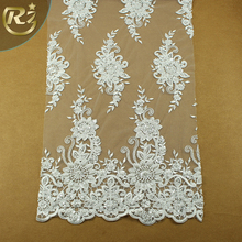 LF-309 Factory Wholesale Elegant Cotton Guipure French Lace Fabric With Stones And Beads