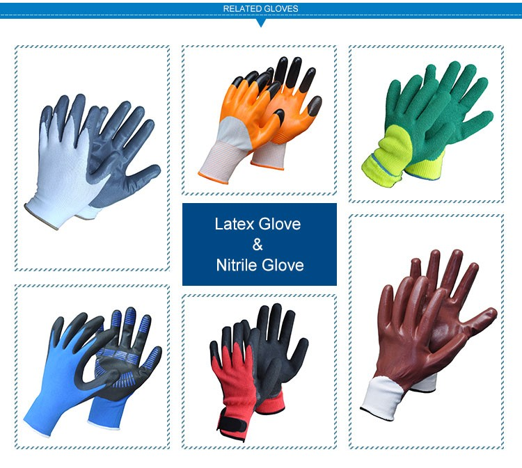 JX68F642 Made In China Non Disposable Safety Latex Gloves Wholesale