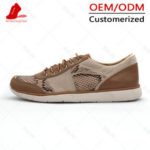 New design fashion breathable Canvas pu Upper men casual shoe