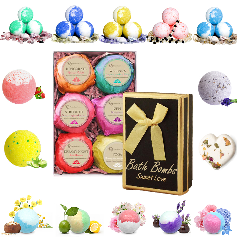 CE Certificate 100g whitening bath bomb molds for Christmas Promotional gift set