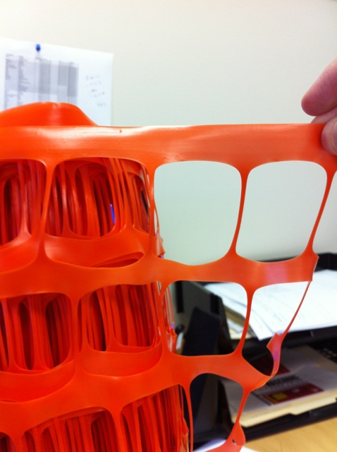 HDPE Plastic Orange Safety Fence Barrier