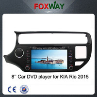 Wholesale 8 inch in dash touch screen car audio for 2015 rio car dvd player with gps/sd/usb/ipod/mirror link