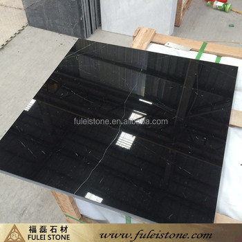 Hot Sale FULEI China Marble Black Marquina Floor Tiles for Indoor