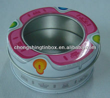 Small round tin candy box/Mint tin box with window