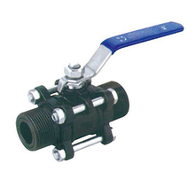 3PC WCB clamp male butt welded end ball valve
