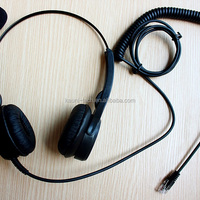 Professional Binaural RJ11 RJ9 Telephone Headset