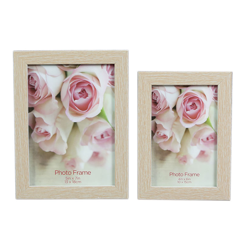 The cheapest white cardboard beautiful flower picture photo frame 4x6