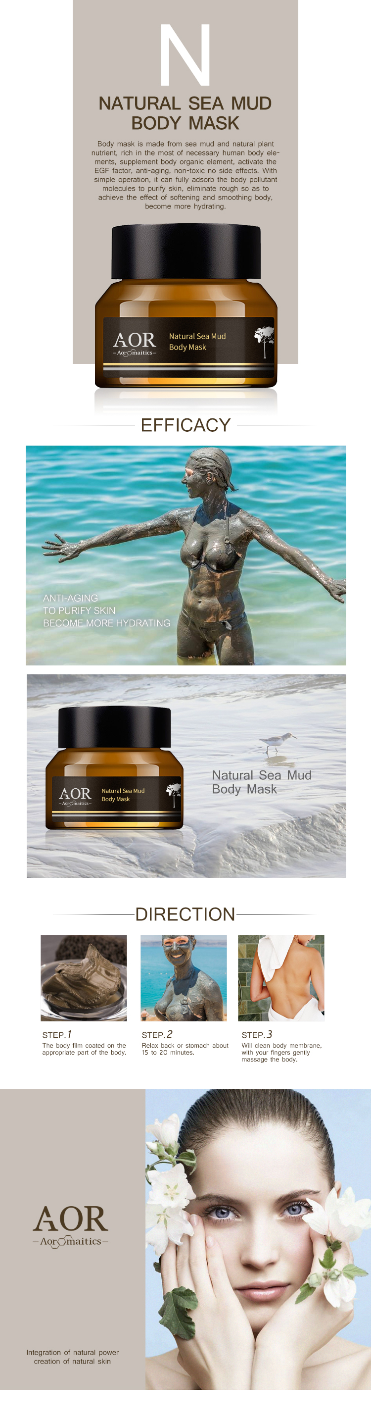 Natural Sea Mud Body regeneration Antiaging Anti-pollution Purifying Smoothing Softening