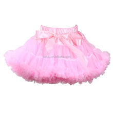 2014 baby girl's ruffled tutus for girls adorable design with bow floral chiffon fluffy skirt