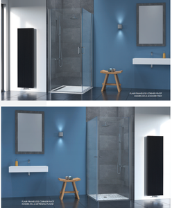 Clear Glass Bathroom Cheap Prices Pivot Corner Shower Door