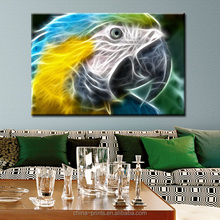 Abstract Parrot Canvas Animal Painting On Canvas -Ready To Hang