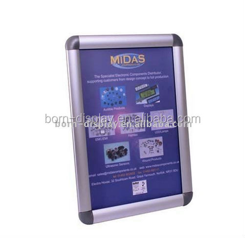 BORN DISPLAY 25mm aluminum snap <strong>frame</strong> display stand for advertising banner stand / A4 <strong>poster</strong> <strong>frames</strong> / photo <strong>frame</strong>