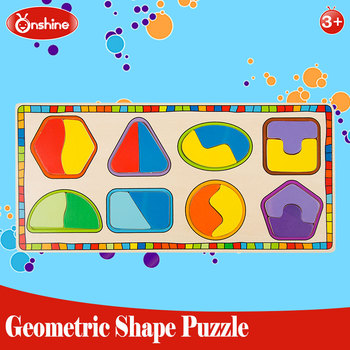 Geometry wooden shape puzzle 2016 new style educational toys