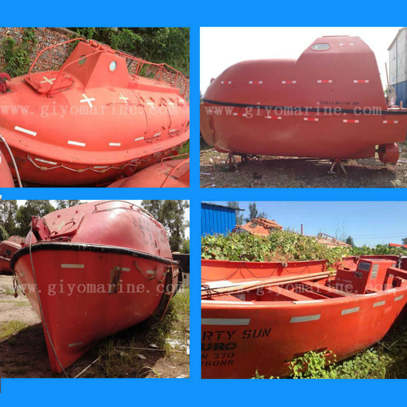 china cheap prices rescue boat fiberglass second hand used lifeboat for sale