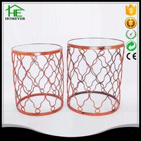 special new model wire mesh iron round coffee table