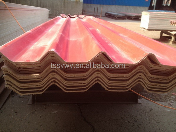 Durable best sell brick red corrugated steel roofing