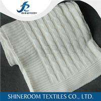 100% Cotton Sweater Knit Fabric Durable Cheap Factory Made Blanket Price
