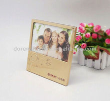 Embossed recordable message photo frame for decoration