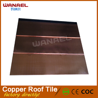 50 Years Warranty Free Sample Factory Selling Copper Clad Steel Sheet Mosaic Colored Metal Roof