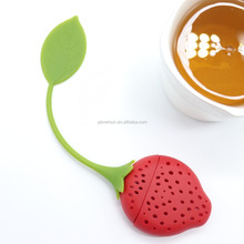 Hottest Custom Oem Popular stawberry tea infuser silicone