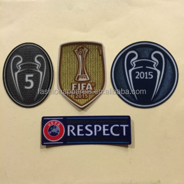 World Champio League Badges Patch/ Iron on flock patch