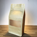 Common use brown kraft paper bag with clear window