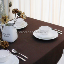 china hotel linen spun polyester table cloth/ restaurant table cloth for Wedding Decoration