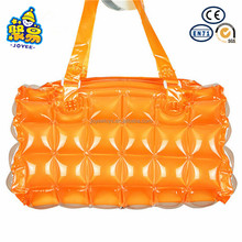 Logo printed colorful inflatable bubble PVC beach bags