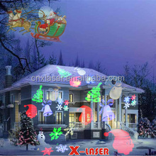 cheap outdoor Christmas led projector with 20 units slides holiday light show