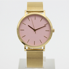 China gold supplier Borong OEM or ODM gold mesh strap fashion wrist watch ladies B2793-18