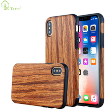 Natural Wood Tactile Flexible TPU Rubber Case For Apple iPhone X , Wood Grain Phone Case For iPhone X