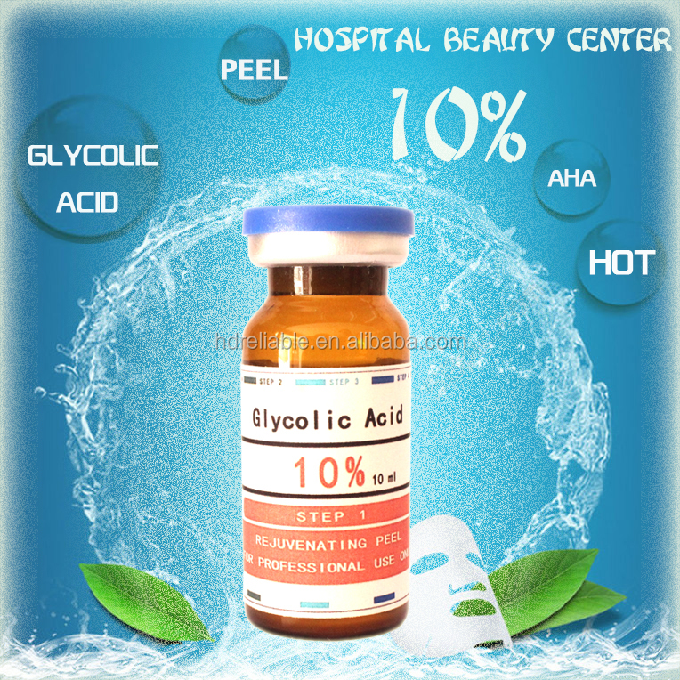 GLYCOLIC ACID 10% Chemical Peel Kit Medical Grade - 100% Pure! Acne, Scars, Wrinkles