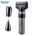 Kemei KM1210 New Arrival Rechargeable 3 in 1 Black Mans Trimmer and Shaver