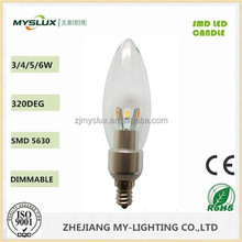E17 Smd 5630 LED Candles Bulbs Warm White Color