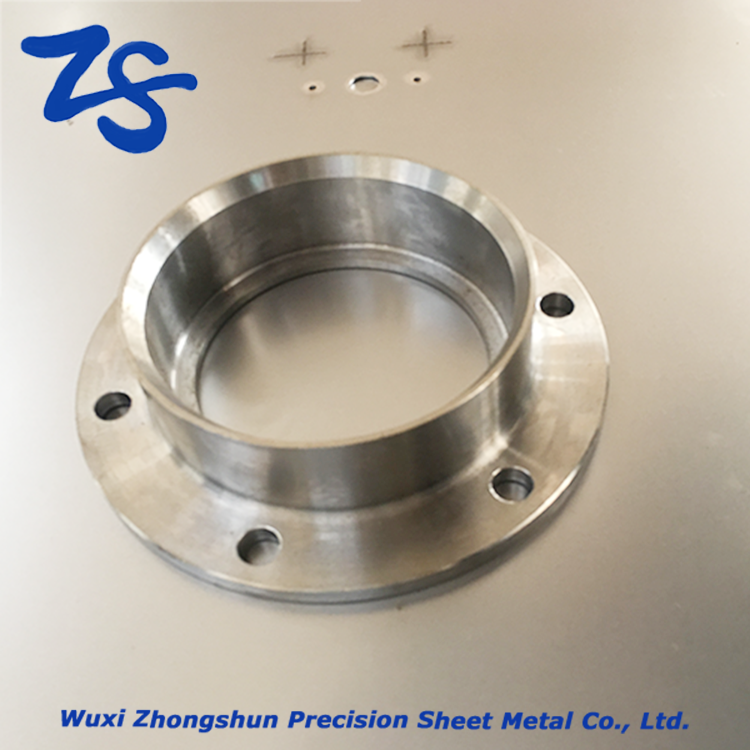 Customized galvanized sheet metal connector parts pipe fitting deep drawning component