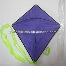 Promotional diamond /plain kite/ purple kite
