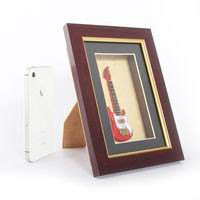 Wholesale photo frame with mini electric guitar decorative photo frame and picture photo frame