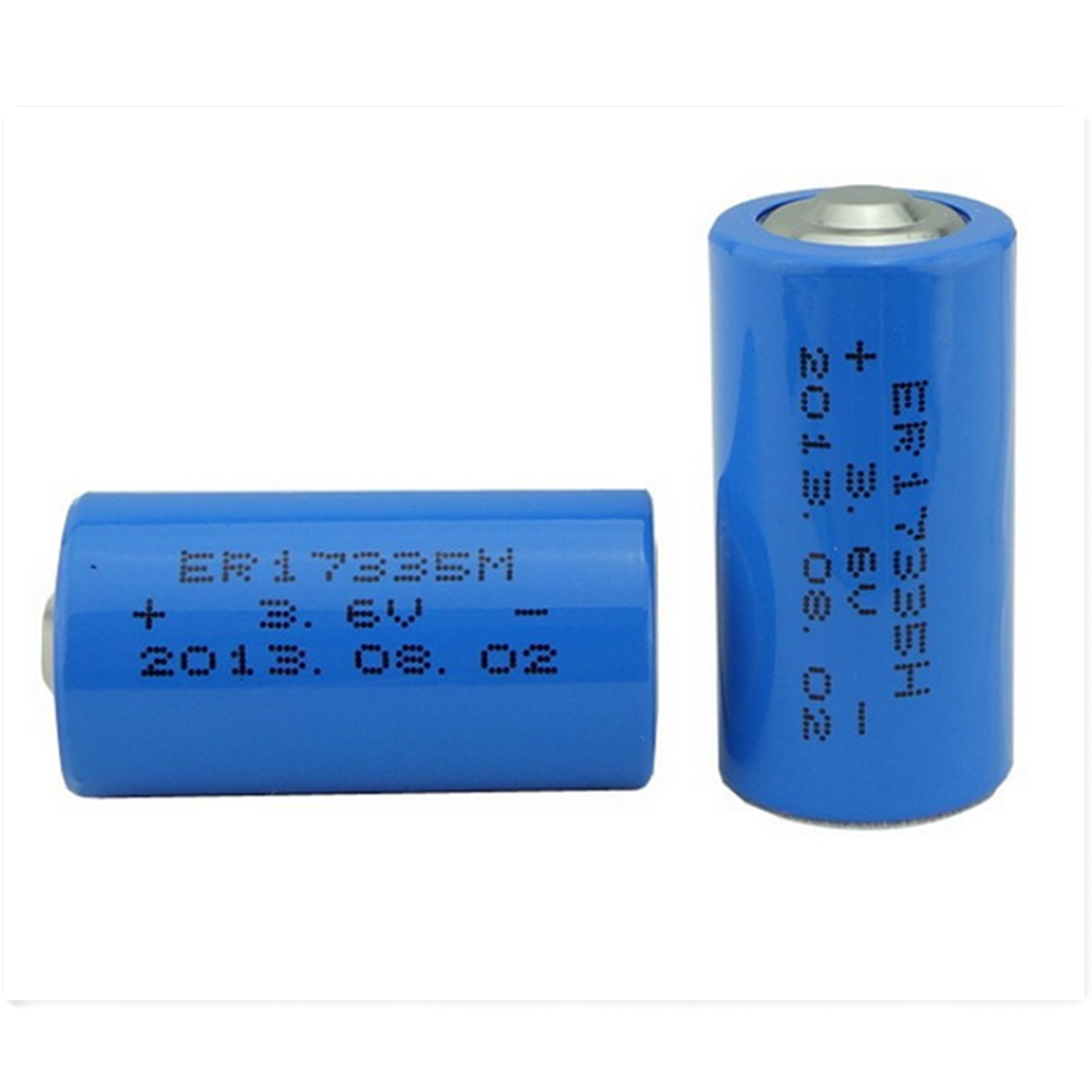 ER17335 lithium battery 2/3a size battery 3.6V 2200mAh small size with high capacity battery