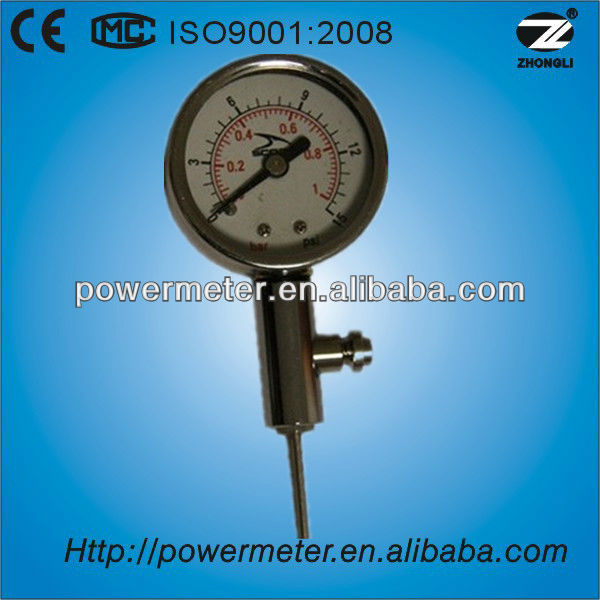 Stainless steel ball Nrmal air pressure gauge
