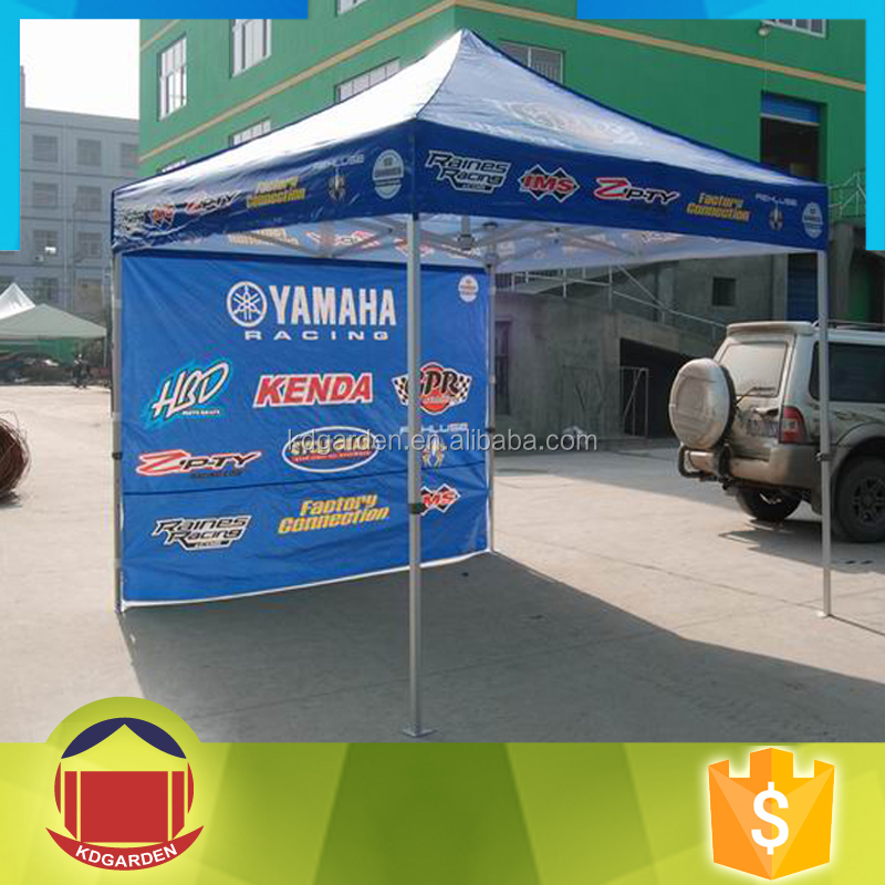 aluminium tent folding display printed canopy