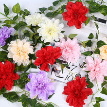 New Designs Flower Backdrop Heads Silk Dahlia Flower Heads