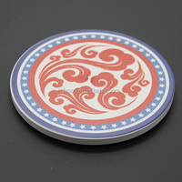Delicate customized products ceramic waterproof cup coasters, tea pads