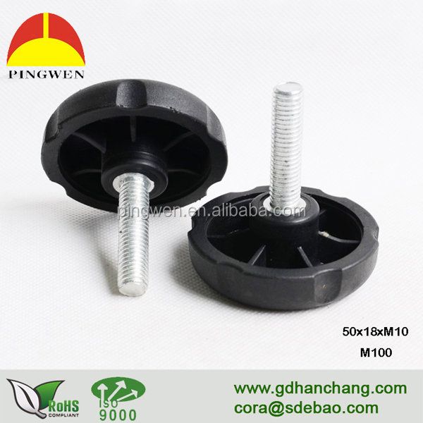 Factory price high quality cabinet adjustable threaded <strong>screw</strong>,hand <strong>screw</strong> knob