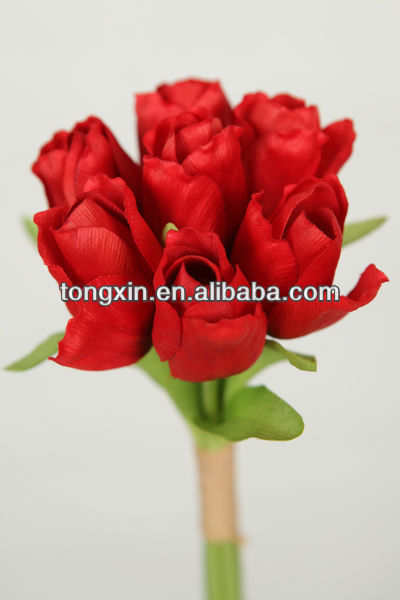 Chinese flower wholesale silk tulips
