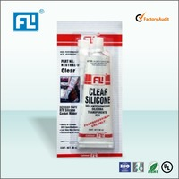 transportation usage clear transparent RTV siliicone gel silicone rubber adhesive glue