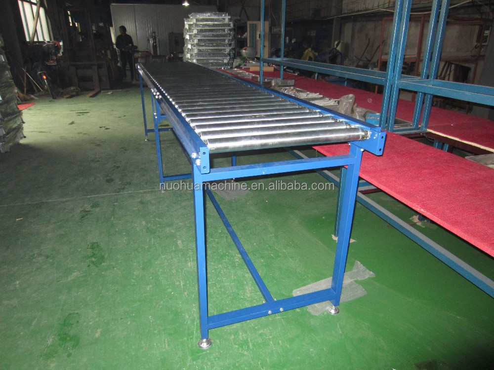 Powered galvanized carbon steel roller conveyor with sprocket