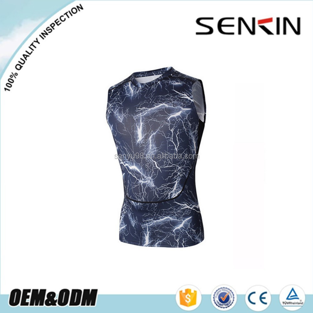 custom made performance compression shirts sublimation printed compression shirt bulk buy