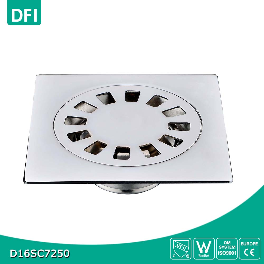 4 inches 201stainless steel floor drain square shape