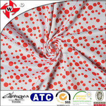 Chuangwei Textile -Weft Knitting Dot Printed Mutispandex Fabric for garment lining