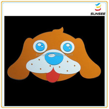1-10mm Newest style and high quality colorful dog shaped mirror wall sticker for kids